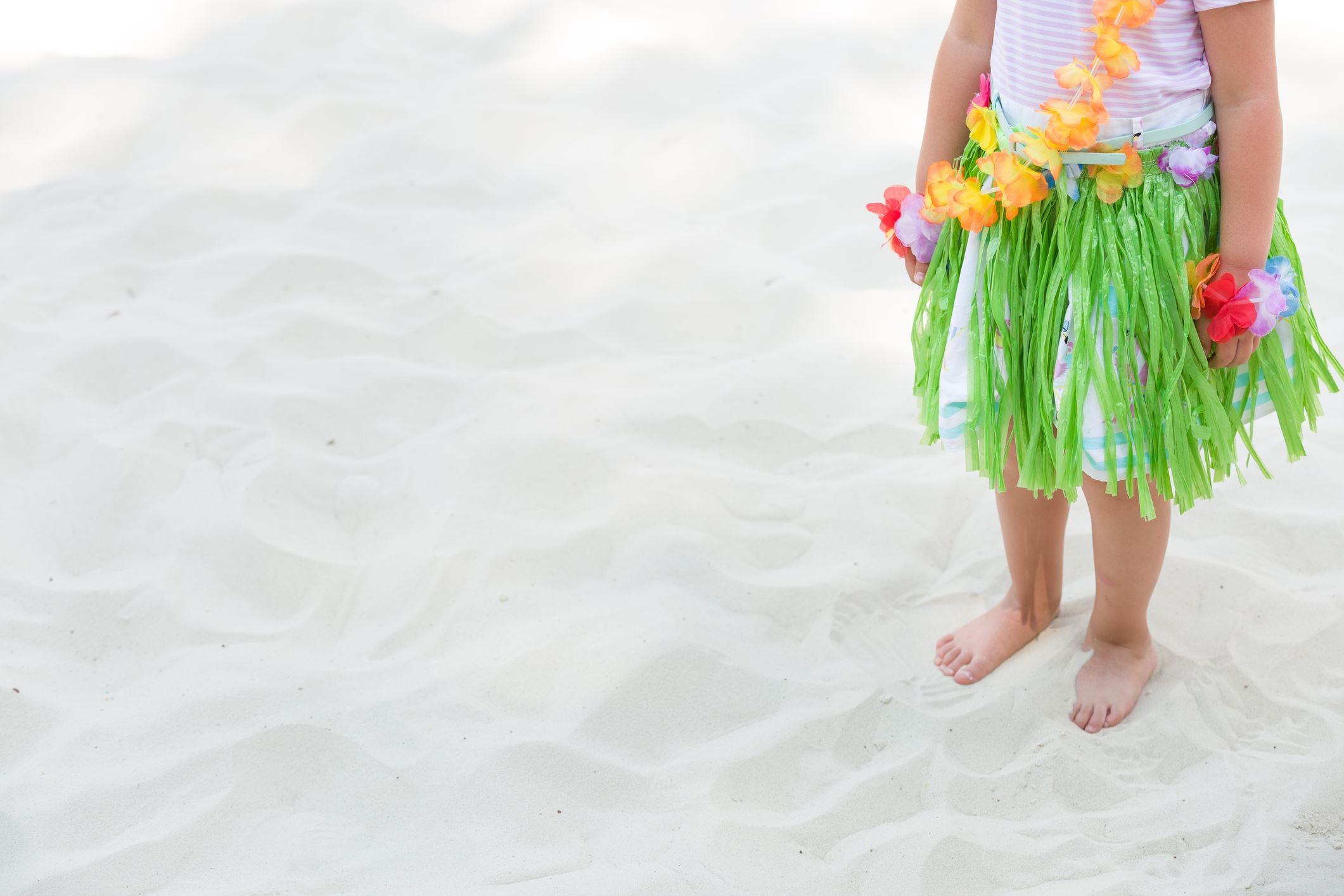 hula girl in sand